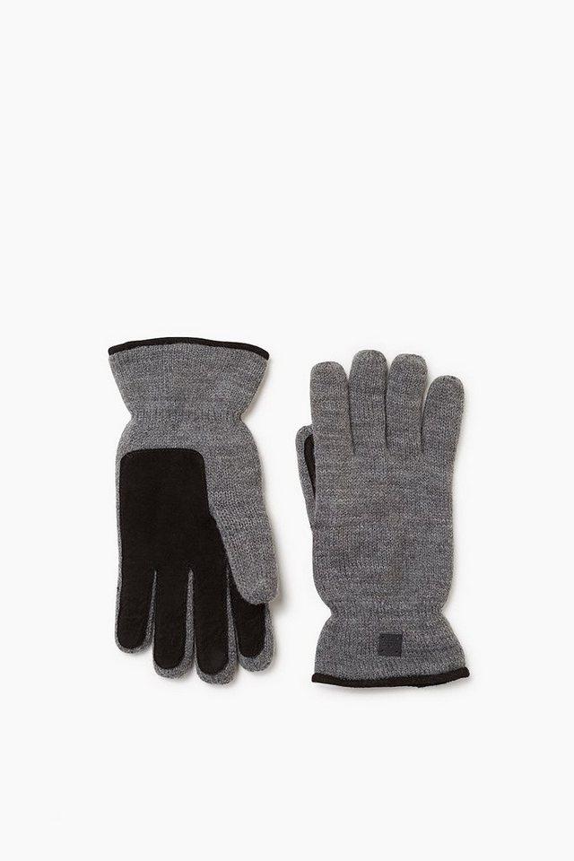 EDC Handschuhe mit Leder-Handflächen in MEDIUM GREY