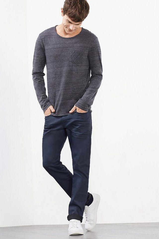 EDC Clean überfärbte Stretch-Jeans in BLUE RINSE