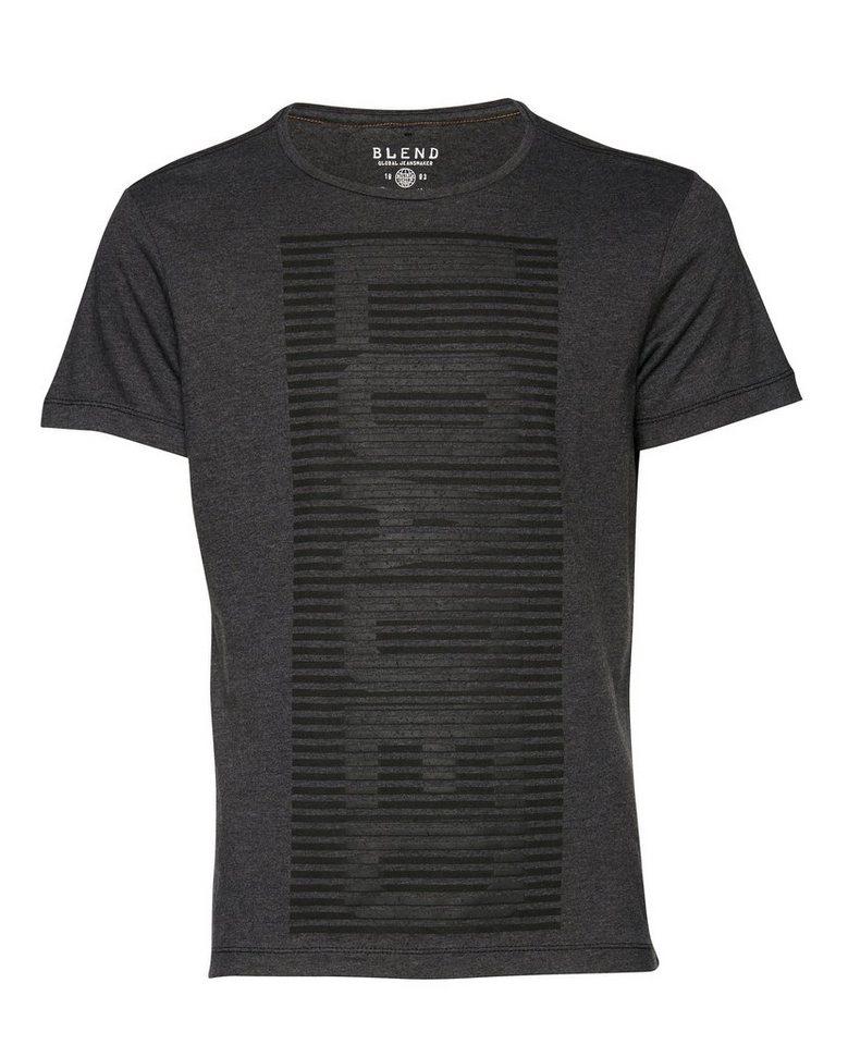 Blend T-Shirt in Dunkel grau