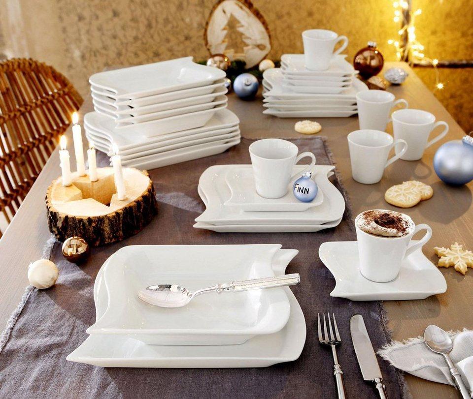 Geschirr-Serie, Porzellan, »Marchetto« in weiß