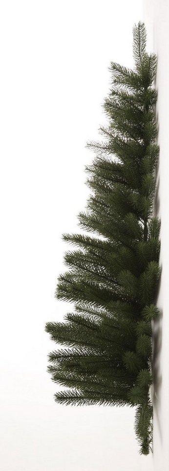 Premium Tannenbaum in Halbform in grün