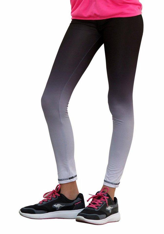 KangaROOS Leggings mit modischem Farbverlauf in schwarz-grau