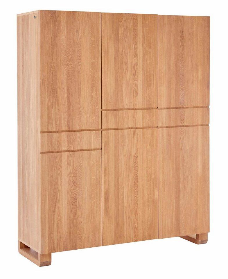 gmk home living kleiderschrank janno dreht renschrank aus massiver eiche 3 t rig online. Black Bedroom Furniture Sets. Home Design Ideas