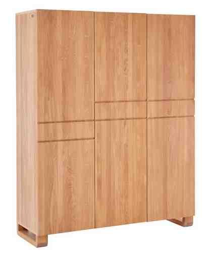 GMK Home & Living Kleiderschrank »Janno«, Drehtürenschrank aus massiver Eiche, 3-türig