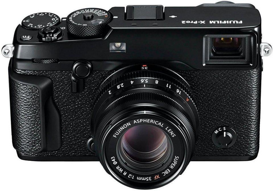 FUJIFILM X-Pro2/XF35mm F2.0 System Kamera, FUJINON XF35mm F2 R WR Normalobjektiv, 24,3 Megapixel in schwarz