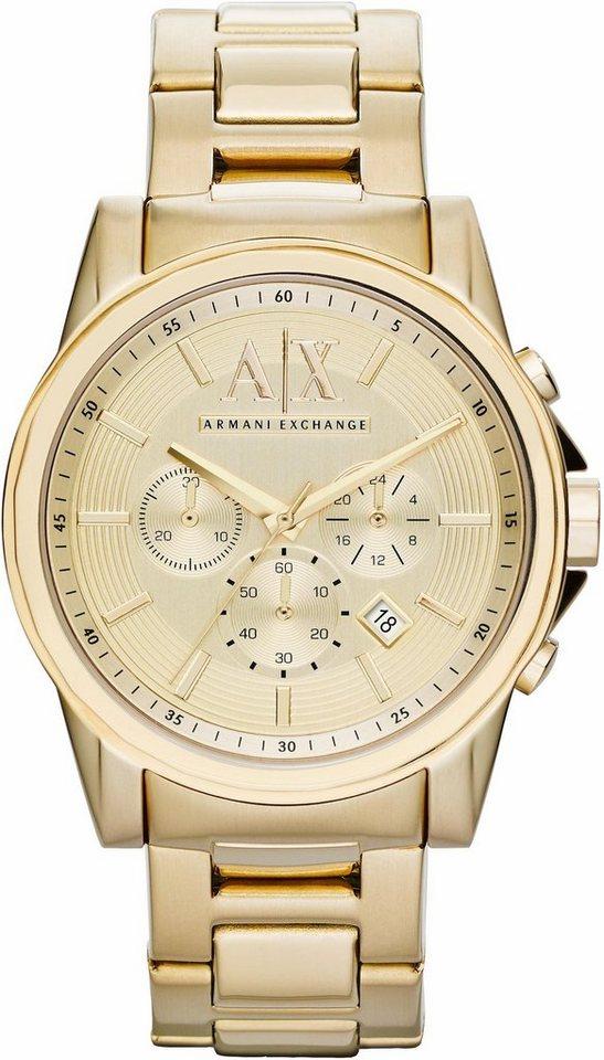 ARMANI EXCHANGE Chronograph »AX2099« in goldfarben
