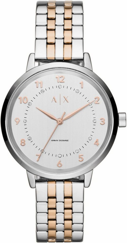 ARMANI EXCHANGE Quarzuhr »AX5370« in silberfarben-roségoldfarben