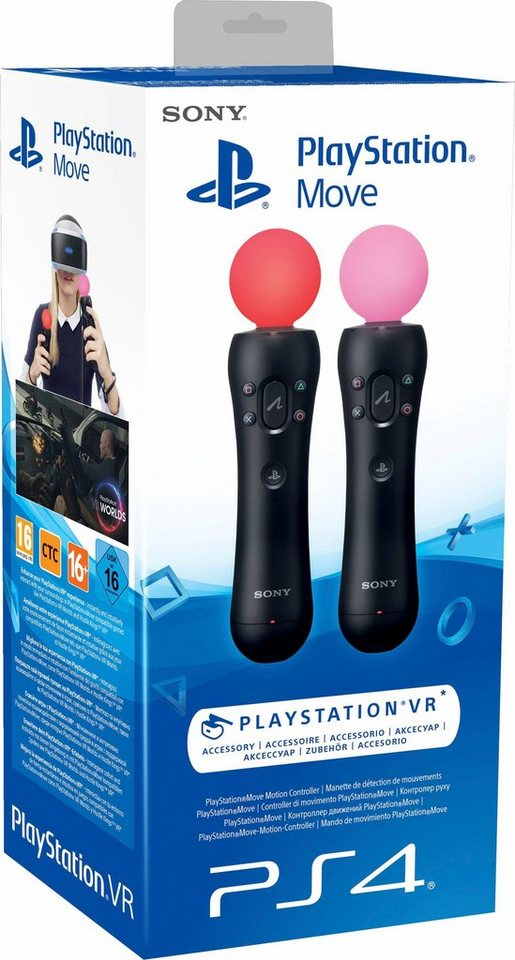 Move Motion Controller (Twin Pack) PlayStation 4 in Schwarz