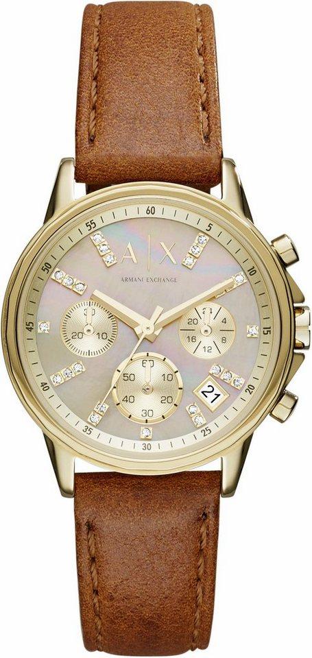 ARMANI EXCHANGE Chronograph »AX4334« in hellbraun