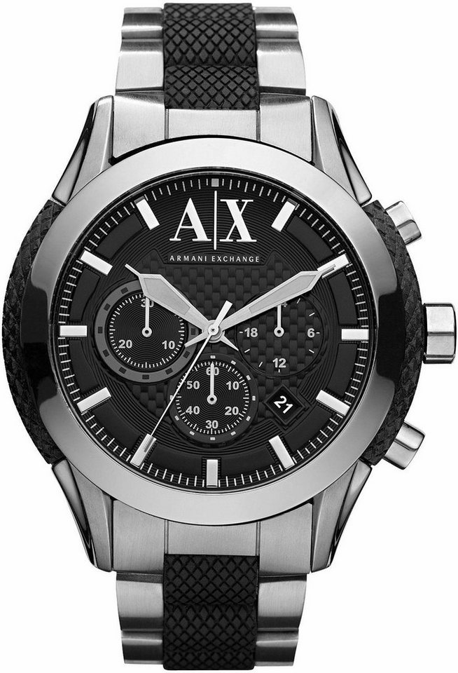 ARMANI EXCHANGE Chronograph »AX1214« in silberfarben-schwarz