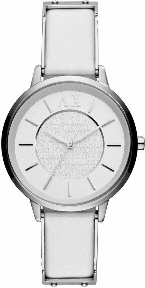 ARMANI EXCHANGE Quarzuhr »AX5300« in weiß-silberfarben