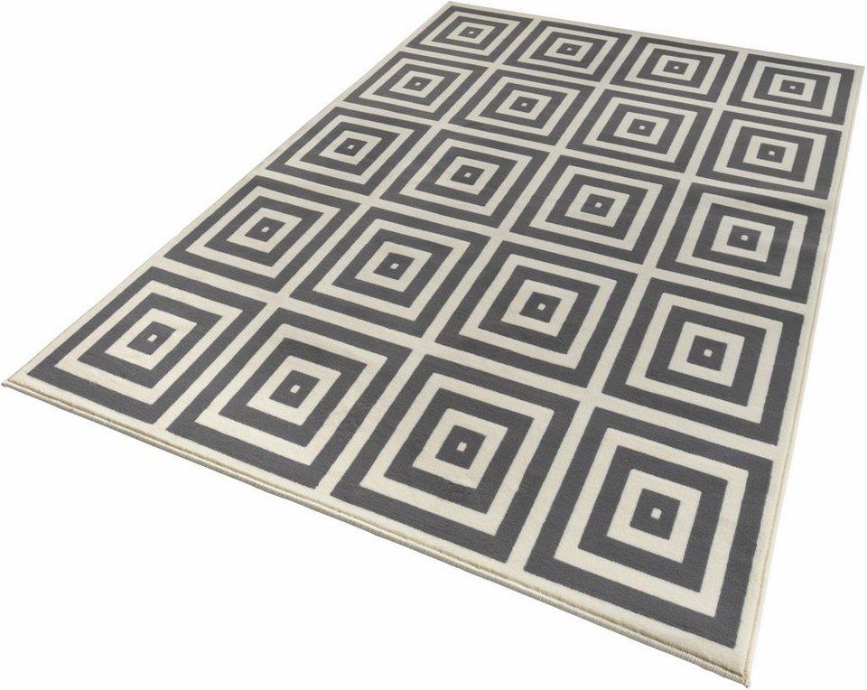 Teppich, Zala Living, »Mono«, gewebt in grau creme