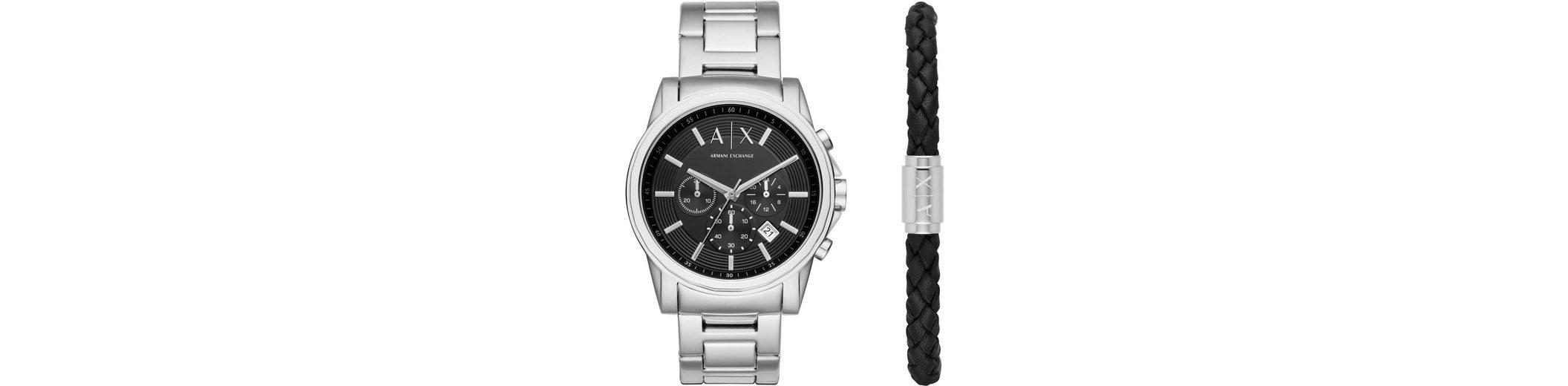 ARMANI EXCHANGE Chronograph »AX7100« mit Armband (Set, 2 tlg.)