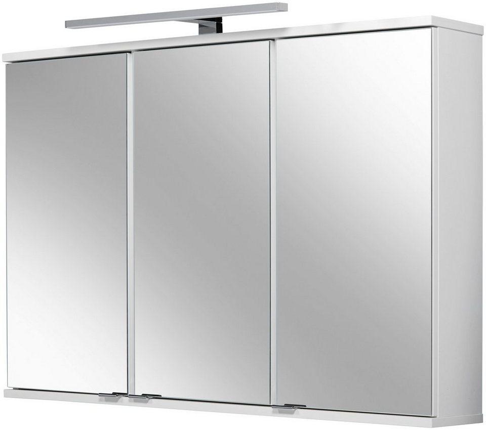 FACKELMANN Spiegelschrank »Lavella und Rondo«, Breite 100,5 cm in weiß