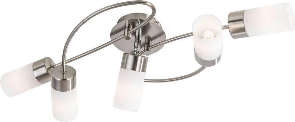 Nino Leuchten , LED-Deckenleuchte, 5flg., »LOLA« in nickelfarben
