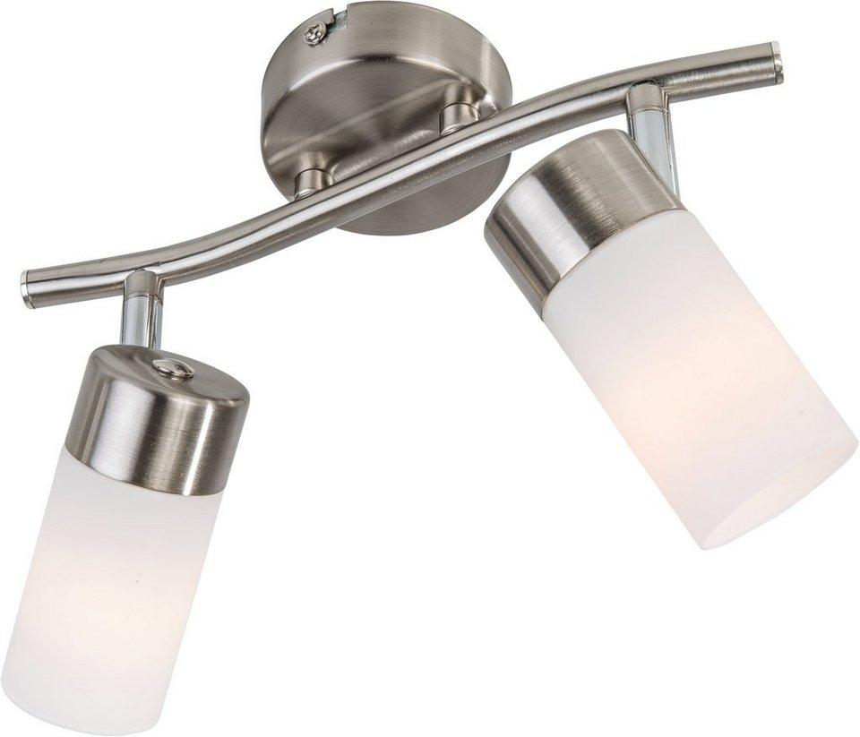 Nino Leuchten LED-Deckenleuchte, 2flg., »LOLA« in nickelfarben