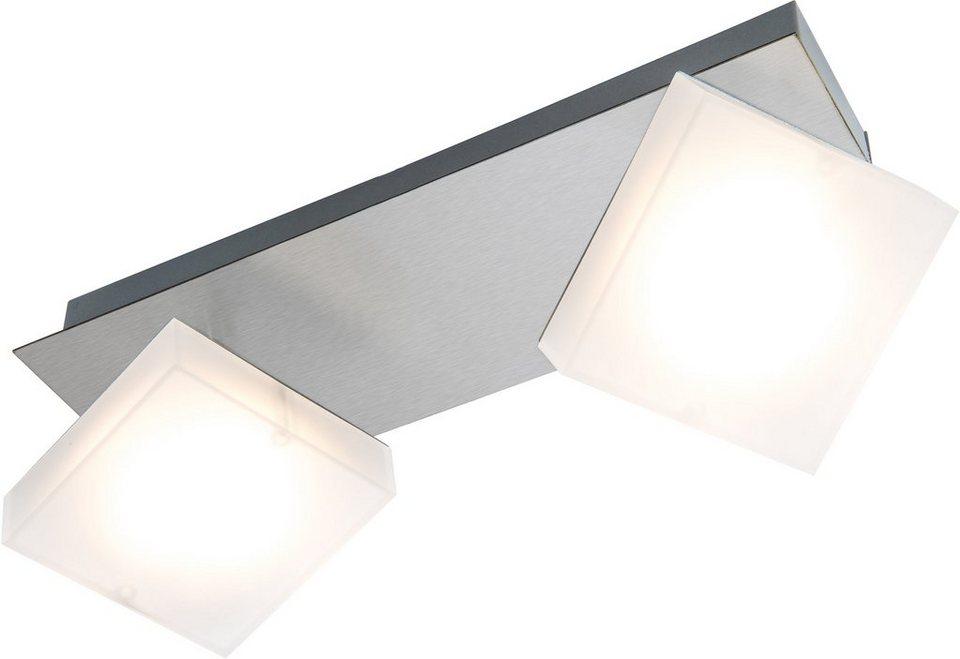 Nino Leuchten LED-Deckenleuchte, 2flg., »DENISE« in nickelfarben, matt weiß