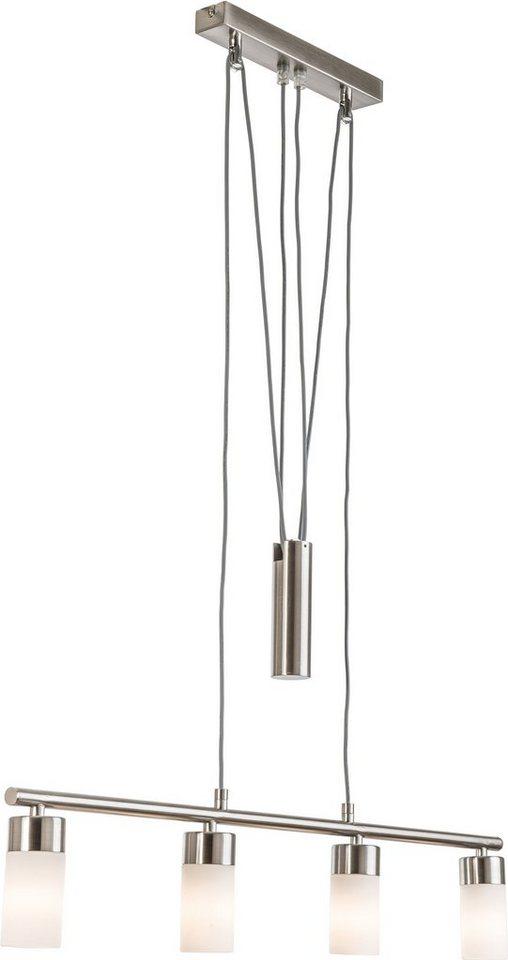 Nino Leuchten LED-Pendelleuchte, 4flg., »LOLA« in nickelfarben, weiß