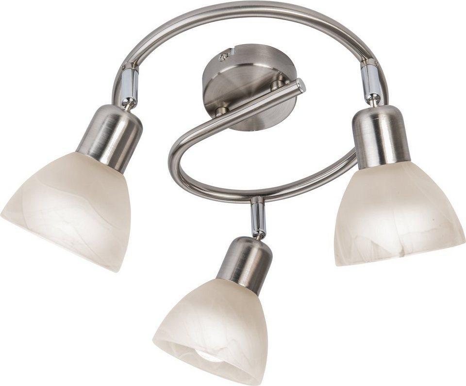 Nino Leuchten LED-Deckenleuchte, 3flg., »DAYTONA« in nickelfarben