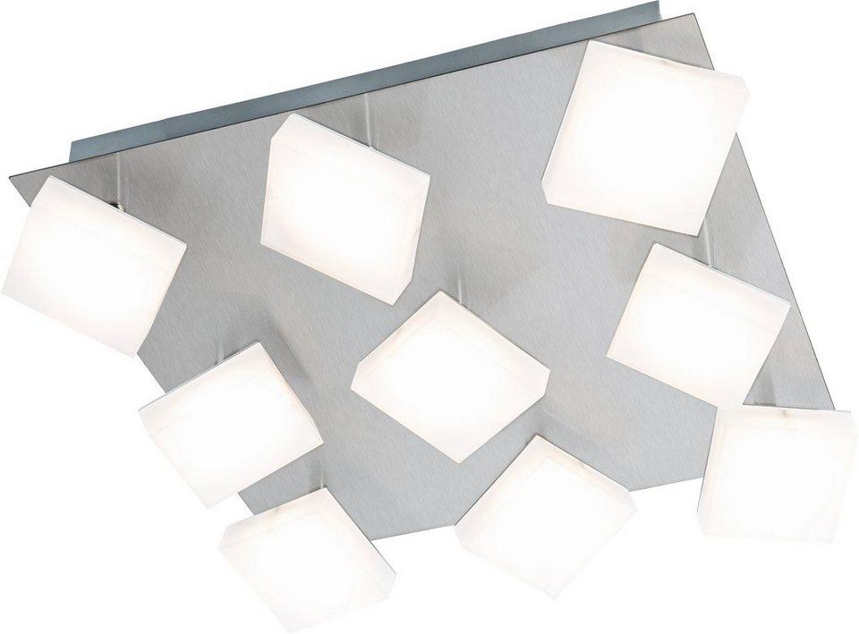 Nino Leuchten LED-Deckenleuchte, 9flg., »DENISE« in nickelfarben, matt weiß