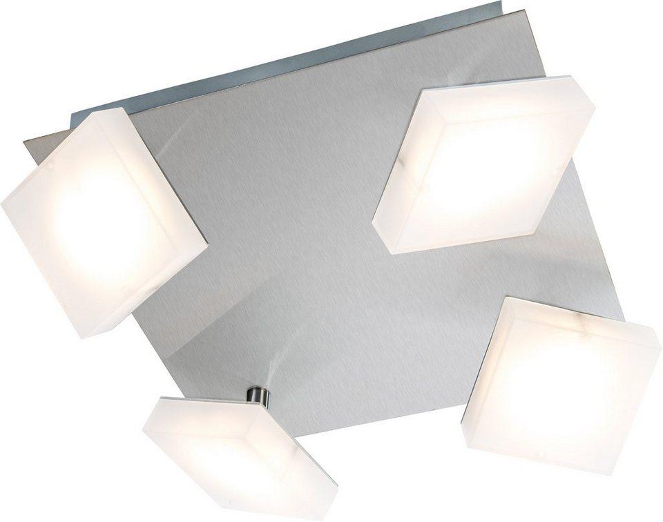 Nino Leuchten LED-Deckenleuchte, 4flg., »DENISE« in nickelfarben, matt weiß