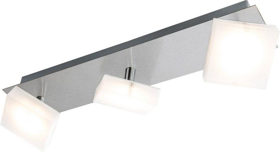 Nino Leuchten LED-Deckenleuchte, 3flg., »DENISE« in nickelfarben, matt weiß