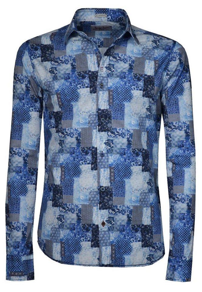 Signum Leichtes Langarmhemd mit Druck in peacoat blue