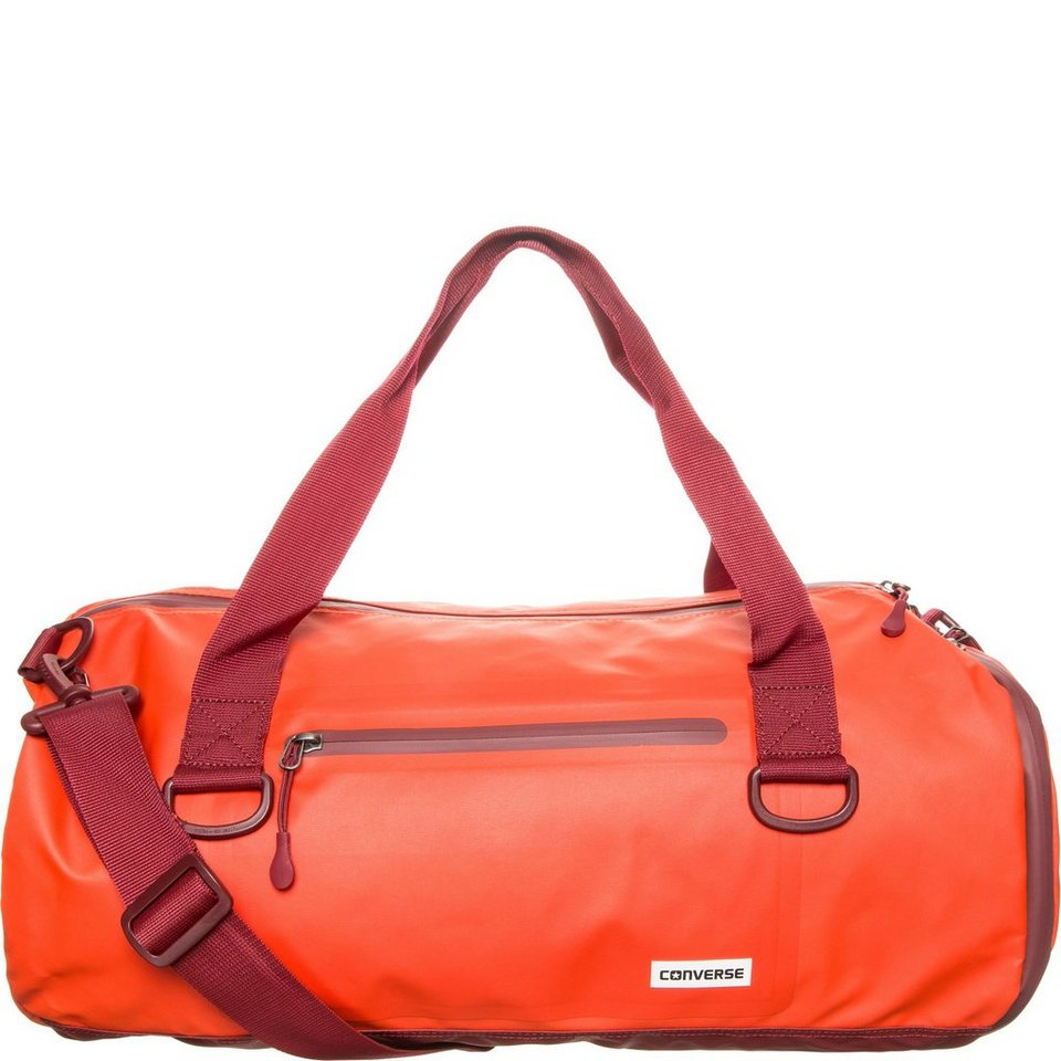CONVERSE Rubber Duffel Tasche in orange / bordeaux