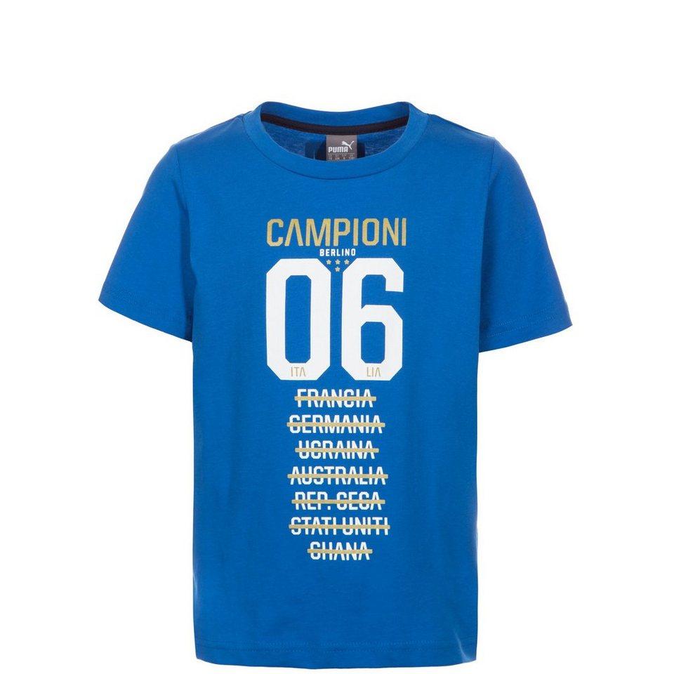 PUMA FIGC Italien Tribute 2006 Graphic T-Shirt Kinder in blau