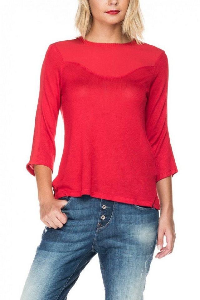 salsa jeans T-Shirt, kurzarm »ARRÁBIDA« in Red