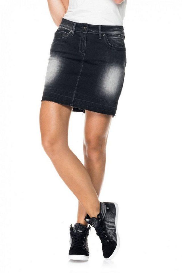 salsa jeans Kurze Rock »Push Up/ Wonder« in Black