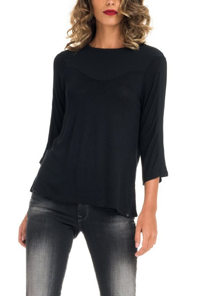 salsa jeans T-Shirt, kurzarm in Black