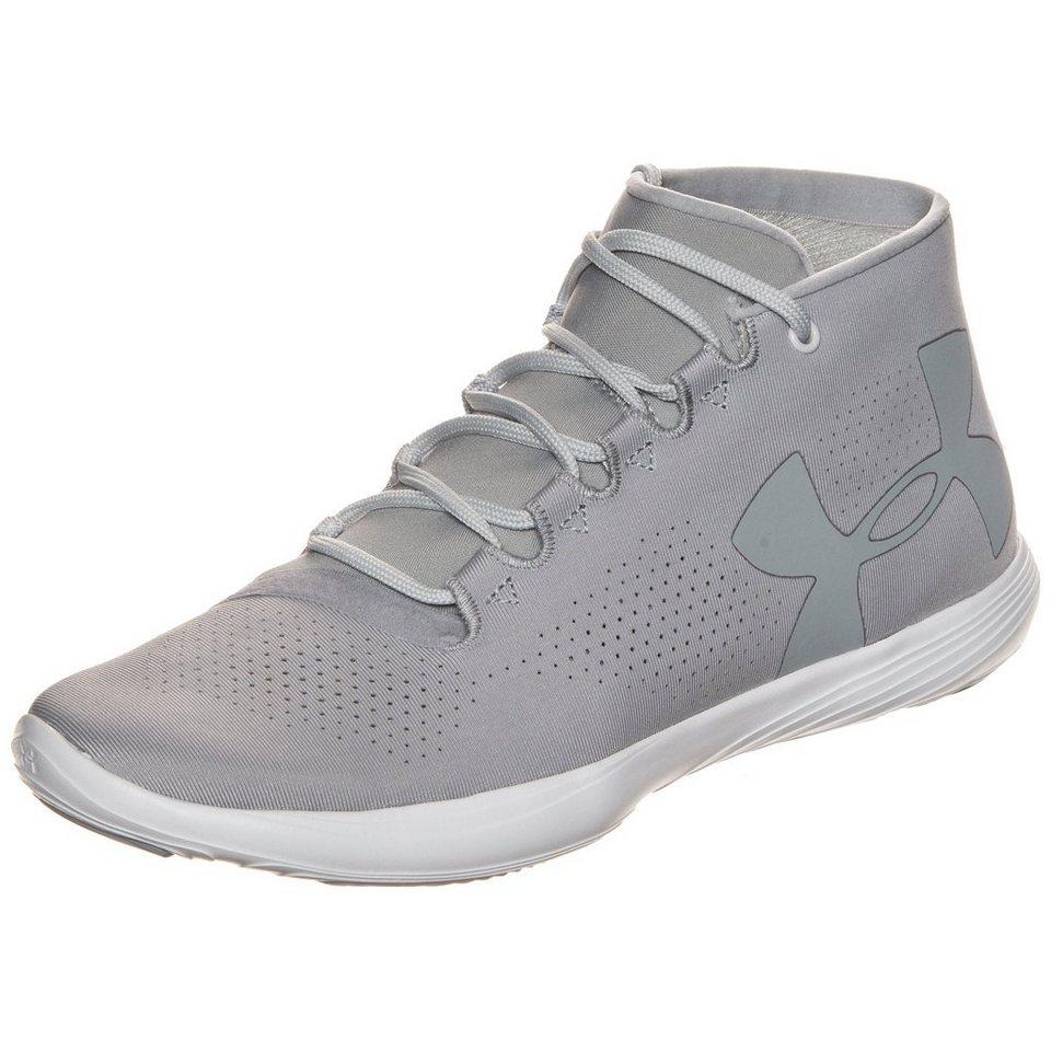 Under Armour® Street Precision Mid Trainingsschuh Damen in grau / weiß
