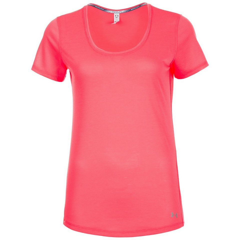 Under Armour® HeatGear Streaker Shortsleeve Laufshirt Damen in koral