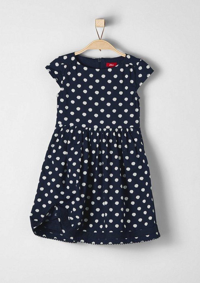 s.Oliver RED LABEL Junior Festliches Baumwollkleid für Mädchen in dark blue AOP