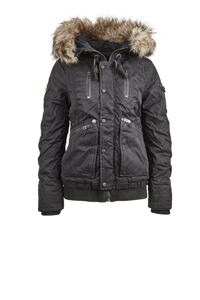 Khujo Outdoorjacke »LEOTIE« in schwarz
