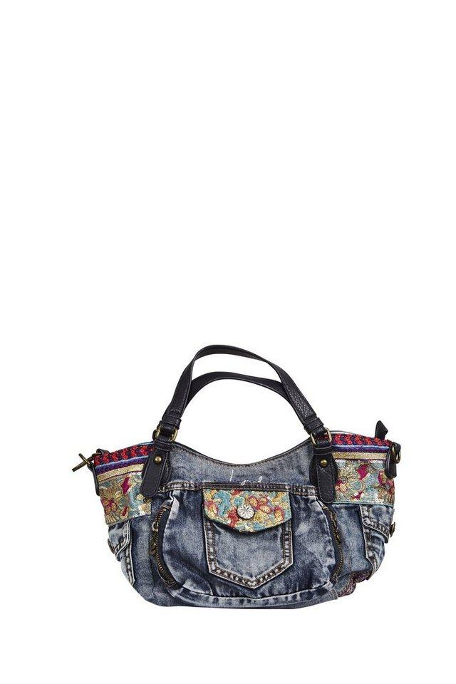 Desigual Handtasche »BOLS ETHNIC DELUXE ROTTERDAM M« in blau