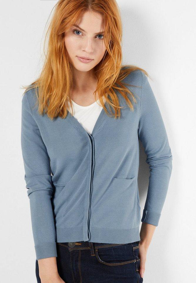 Street One V-Neck Basic-Cardigan Liz in sterling blue