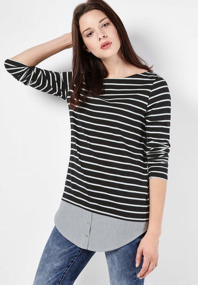 Street One Shirt mit Streifen Helen in Black
