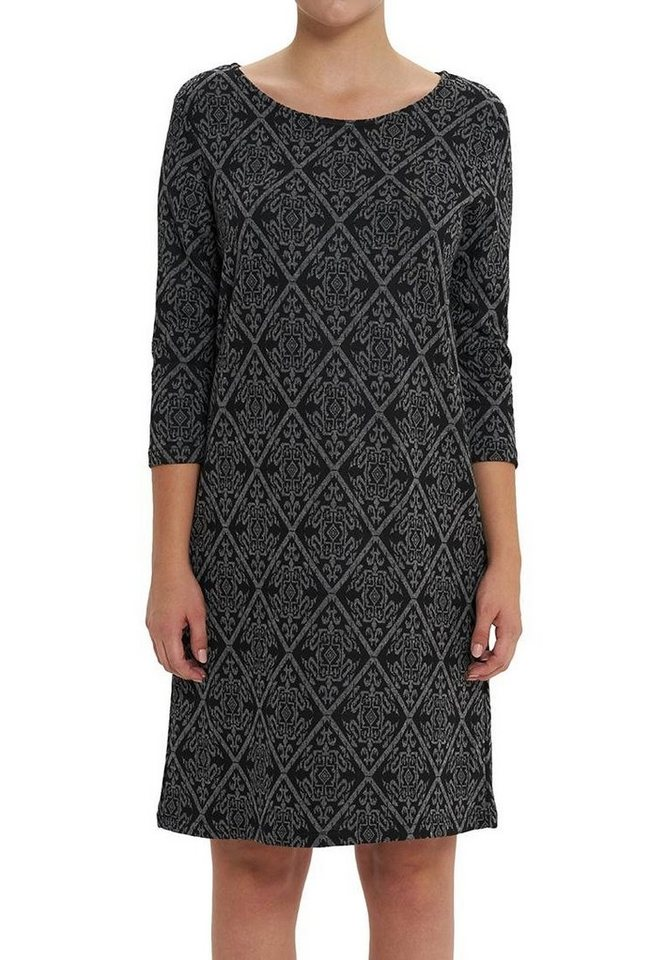 Vestino Kleid in grau/schwarz
