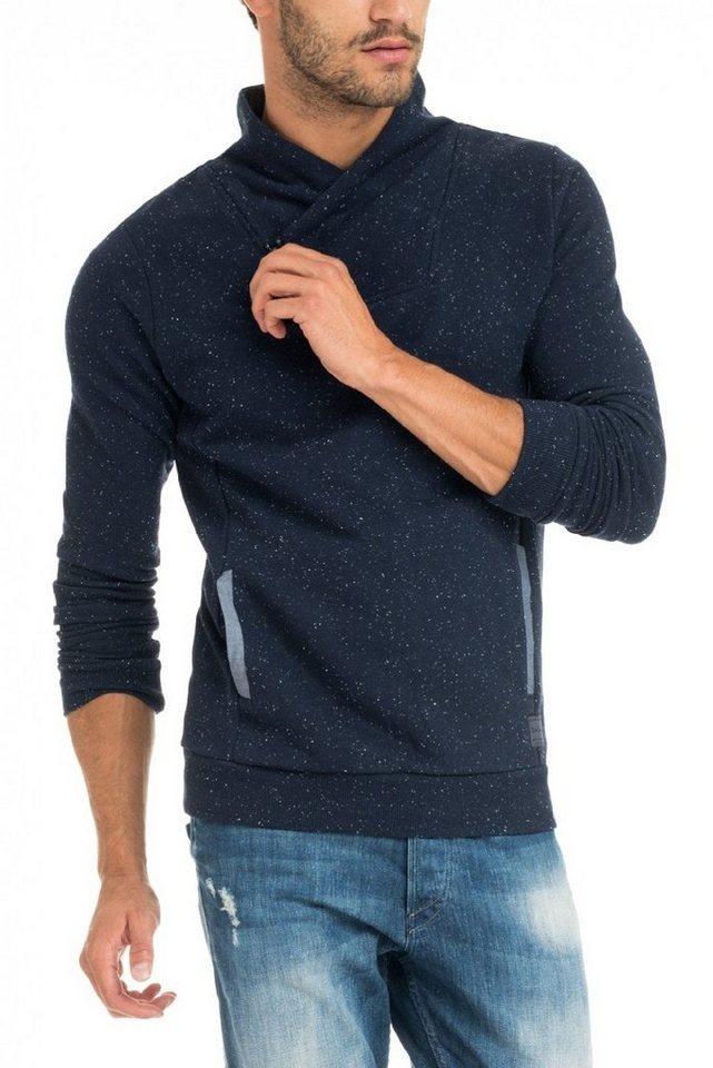 salsa jeans Langarm T-Shirt in Blue
