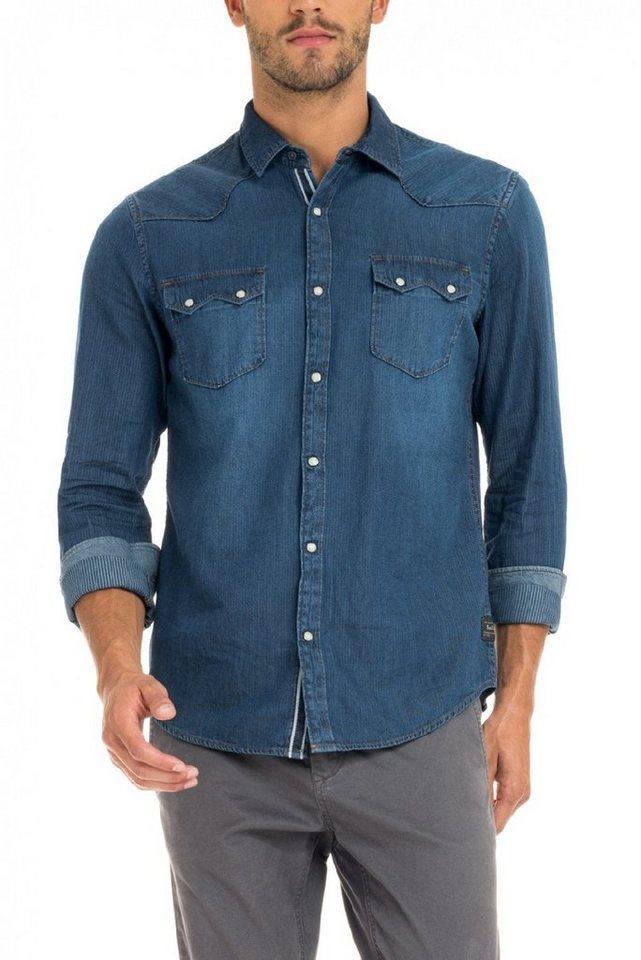 salsa jeans Hemd »DENMARK« in Blue