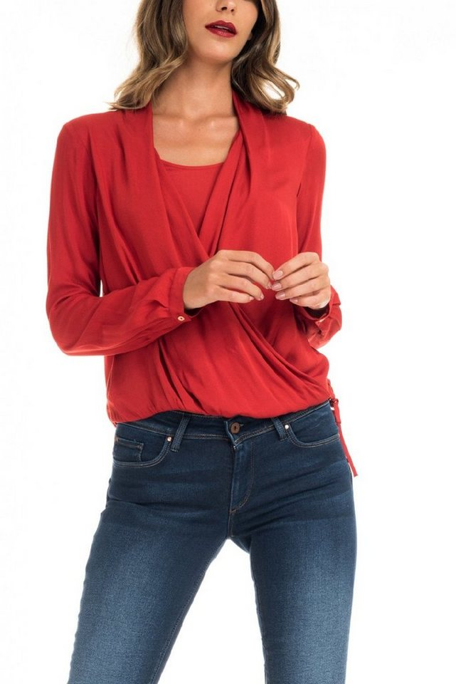 salsa jeans Bluse in Red