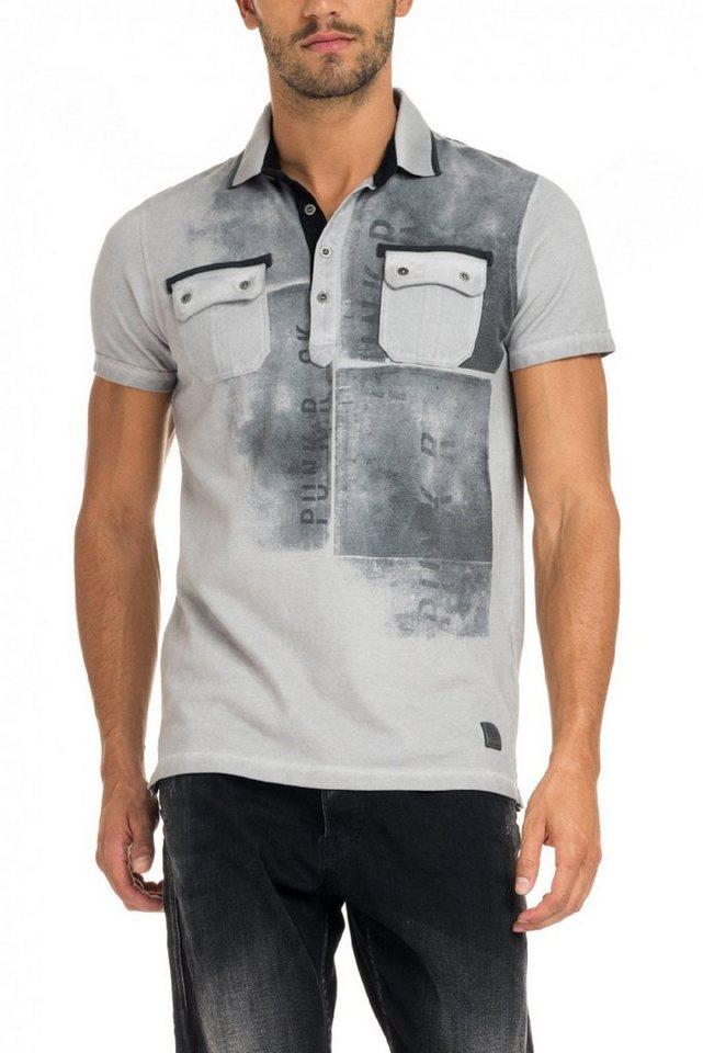 salsa jeans Kursarm Polo Shirt in Grey