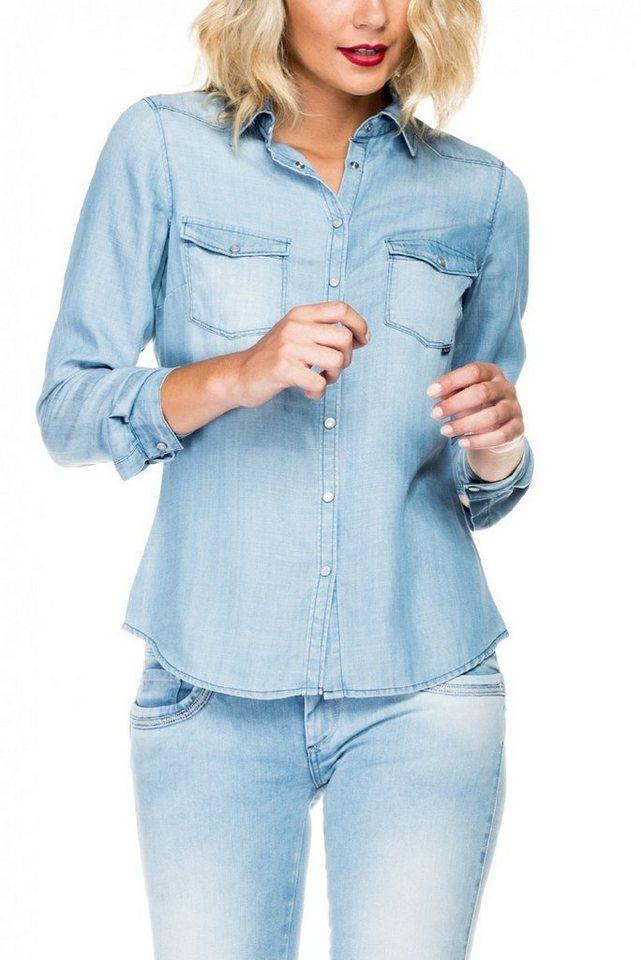 salsa jeans Bluse »MAGDALENA« in Blue