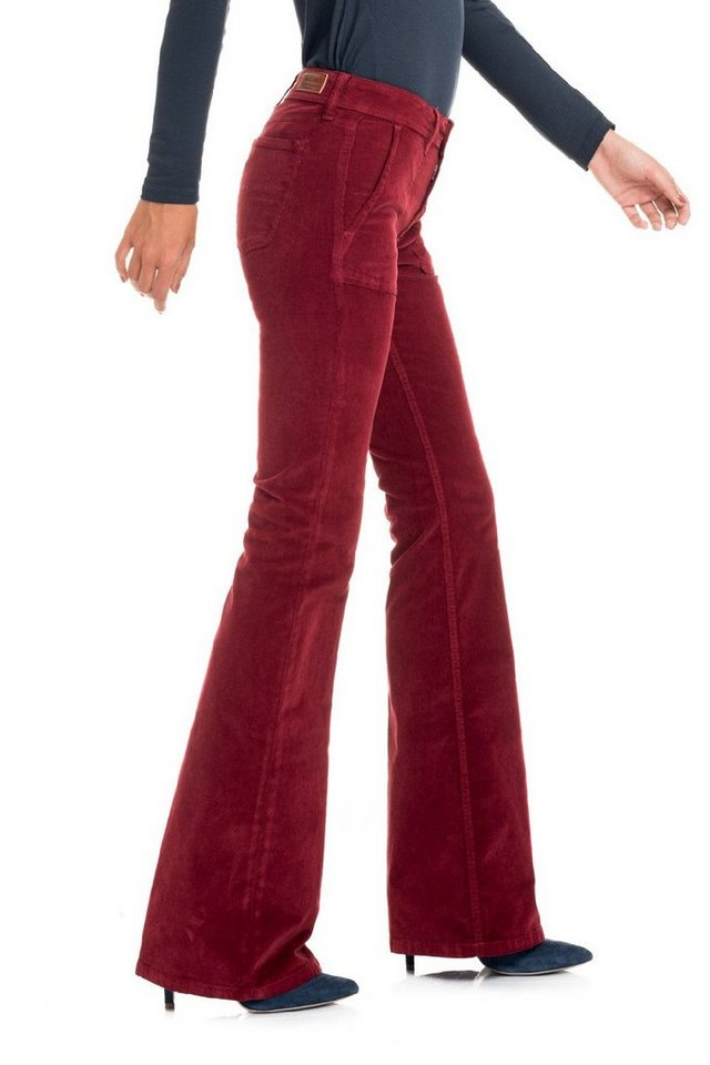 salsa jeans Jean »Flare/ Jane« in Red