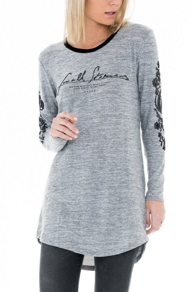 salsa jeans T-Shirt mit Arm »GERMANY« in Grey