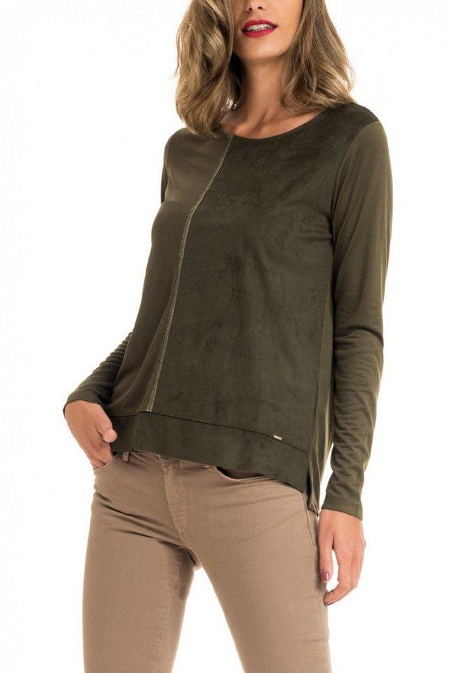salsa jeans T-Shirt mit Arm in Green