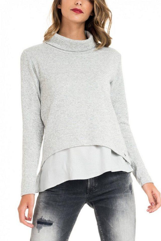 salsa jeans T-Shirt mit Arm in Grey