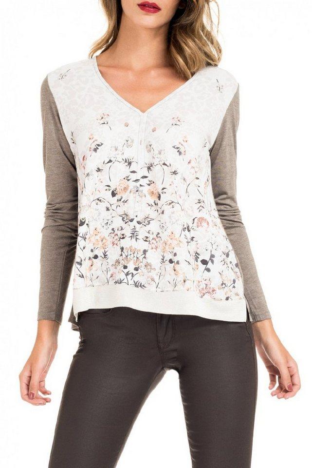salsa jeans T-Shirt mit Arm »MAIORCA« in Brown